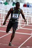 Dwight Thomas at 110 meter hurdles Royalty Free Stock Image