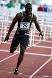 Dwight Thomas bei den 110-Meter-Hürden Lizenzfreies Stockbild
