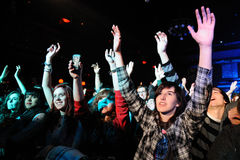 Dźwięki wykonują przy Apolo (Szwedzkiej indie skały odrodzeniowy zespół) Fotografia Royalty Free