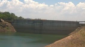 Dwindling Dam level Royalty Free Stock Photography