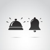 Dwo retro bell icons. Royalty Free Stock Photos