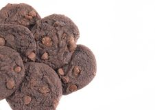 Dwoiści czekoladowego układ scalony ciastka obraz stock