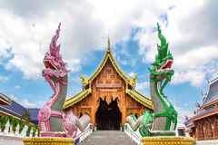 Dwoiści nagas chroni buddyjskiego kościół, Chiang mai Zdjęcia Stock