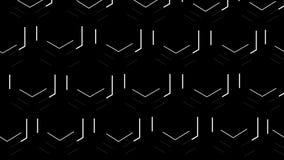 Dwoiści pszczoły honeycomb sześciokąty podkreślają z białymi liniami Czarny tło zbiory