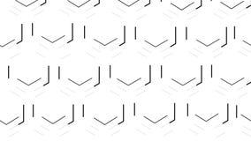 Dwoiści pszczoły honeycomb sześciokąty podkreślają z czarnymi liniami Biały tło zbiory