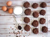 Dwoiści czekoladowi ciastka Fotografia Royalty Free