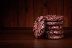 Dwoiści czekoladowi ciastka Zdjęcia Royalty Free