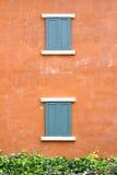 Dwoiści drewniani okno zdjęcia royalty free