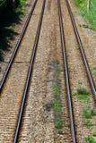 dwoista linia kolejowa Zdjęcie Royalty Free