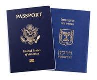 Dwoista narodowość - amerykanin & izraelita Zdjęcia Royalty Free