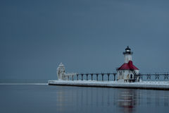 Dwoiste latarnie morskie Fotografia Royalty Free