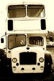Dwoistego decker autobusu frontowy widok fotografia stock