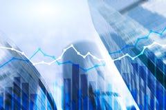 Dwoistego ujawnienia Pieniężni wykresy i diagramy Obraz Stock