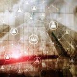 Dwoistego ujawnienia sieci struktury HR działy zasobów ludzkich zarządzanie i rekrutaci pojęcie ludzie - fotografia stock