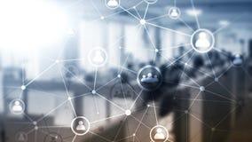 Dwoistego ujawnienia sieci struktury HR działy zasobów ludzkich zarządzanie i rekrutaci pojęcie ludzie - obrazy stock