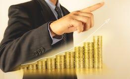 Dwoistego ujawnienia zapasu pieniężni wskaźniki i biznesmen Obrazy Royalty Free