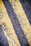 Dwoistej linii drogowy znak Fotografia Royalty Free