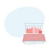 Dwoisty łóżko i poduszka ilustracji