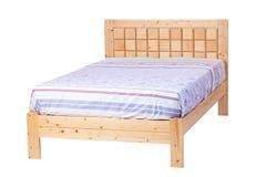 Dwoisty łóżko odizolowywający nad bielem, z ścieżką Zdjęcia Stock