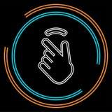 Dwoisty klepnięcie palec - pointer palcowa ikona ilustracja wektor