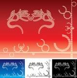 dwoisty smok royalty ilustracja