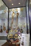 Dwoisty szyi gitary seans fotografia royalty free