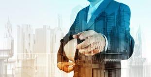 Dwoisty ujawnienie biznesowy inżynier Obraz Stock