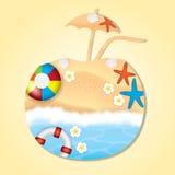 Dwoisty ujawnienie plaża Fotografia Royalty Free
