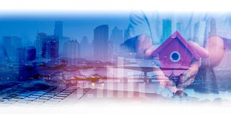 Dwoisty ujawnienie sieci, miasta i sieci związek conc Zdjęcia Stock