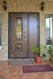 Dwoisty wejściowy drzwi Zdjęcie Stock