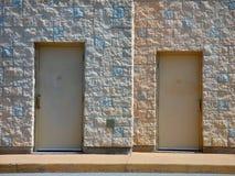 dwoje drzwi Obraz Royalty Free