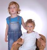dwoje dzieci Zdjęcie Stock