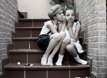 dwoje dzieci Obraz Royalty Free