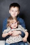 dwoje dzieci fotografia royalty free
