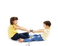 dwoje dzieci walczyć Fotografia Royalty Free