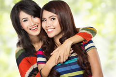 dwoje nastolatków dziewczyny Zdjęcia Royalty Free
