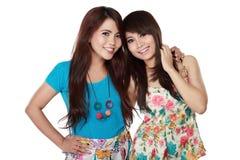 dwoje nastolatków dziewczyny Obraz Royalty Free