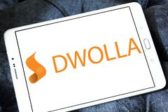 Dwolla payment company logo. Logo of Dwolla payment company on samsung tablet. Dwolla is a United States-only e-commerce company that provides an online payment Royalty Free Stock Photos