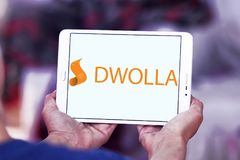 Dwolla payment company logo. Logo of Dwolla payment company on samsung tablet. Dwolla is a United States-only e-commerce company that provides an online payment Royalty Free Stock Image