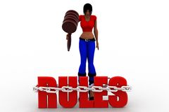 3dwomen rules Royalty Free Stock Images