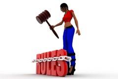 3dwomen rules Stock Photo