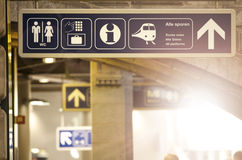 Dworca kierunku znak Obraz Royalty Free