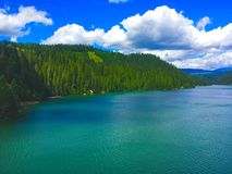 Dworshak-Verdammung, Clearwater-Fluss, Idaho Lizenzfreies Stockfoto