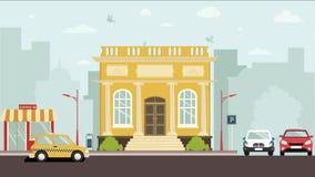 Dworski domowy budynek royalty ilustracja