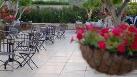 Dworski jard z ogródem bankieta pokój dla ślubów i świętowań zbiory