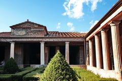 dworski wewnętrzny Pompei fotografia royalty free