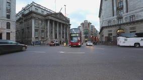 Dworu domu Londyński ruch drogowy zbiory wideo