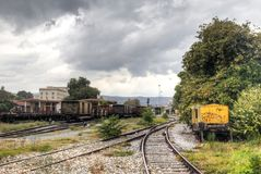 Dworzec w Volos, Grecja Fotografia Royalty Free
