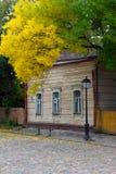 dwuczłonowego krutitskoe Moscow stare ulicy Zdjęcia Stock