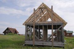 Dwuokapowy ramowy dom Obraz Stock